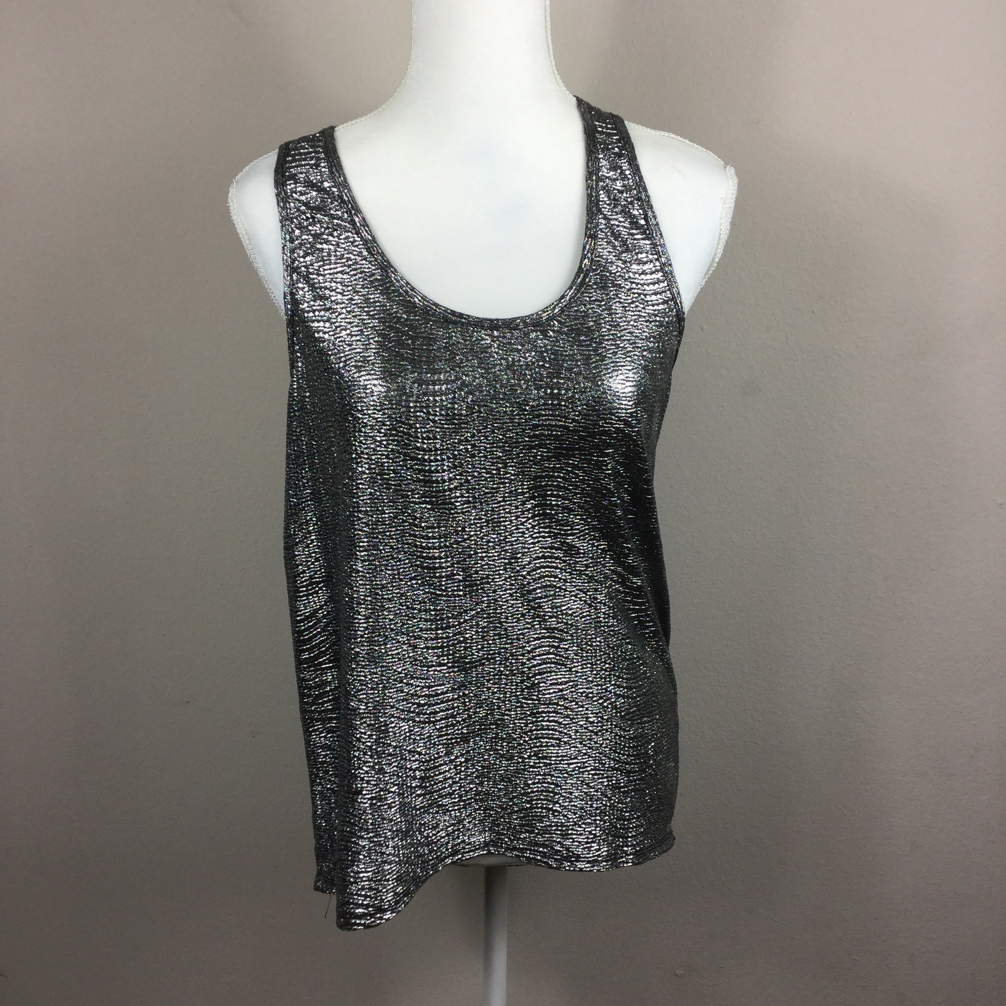 Timing Silver Shimmer Tank Top