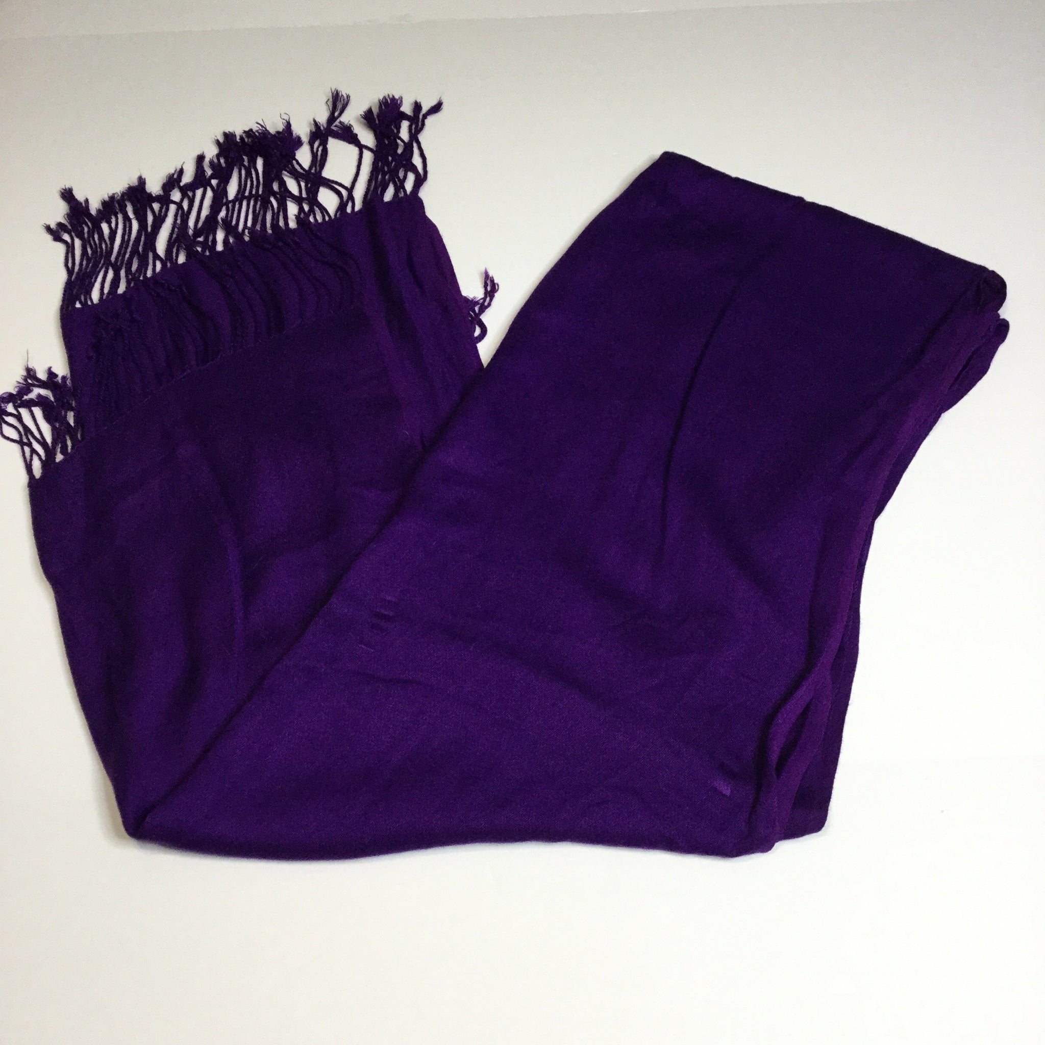 Oversized purple fringe scarf/wrap