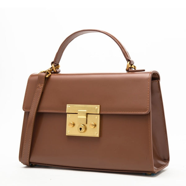 Genuine Leather Women Bag Vintage