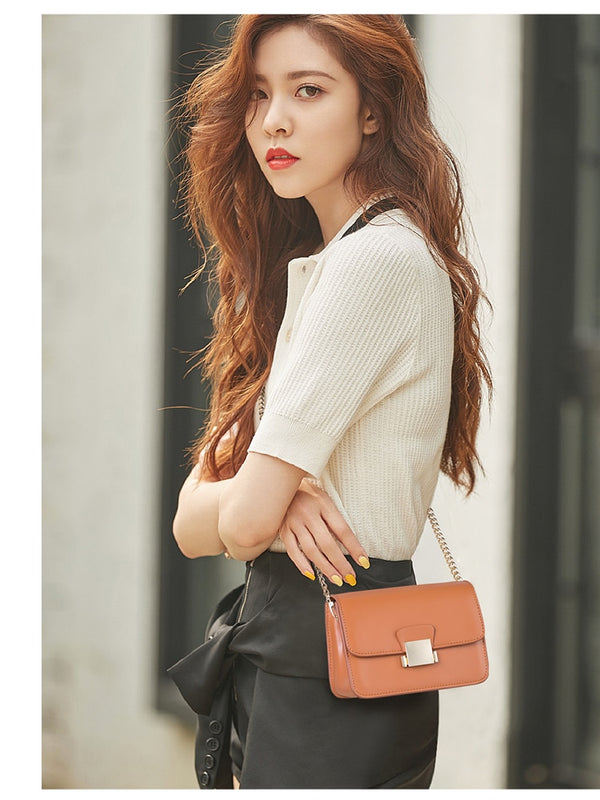 Solid Leather Crossbody Bags