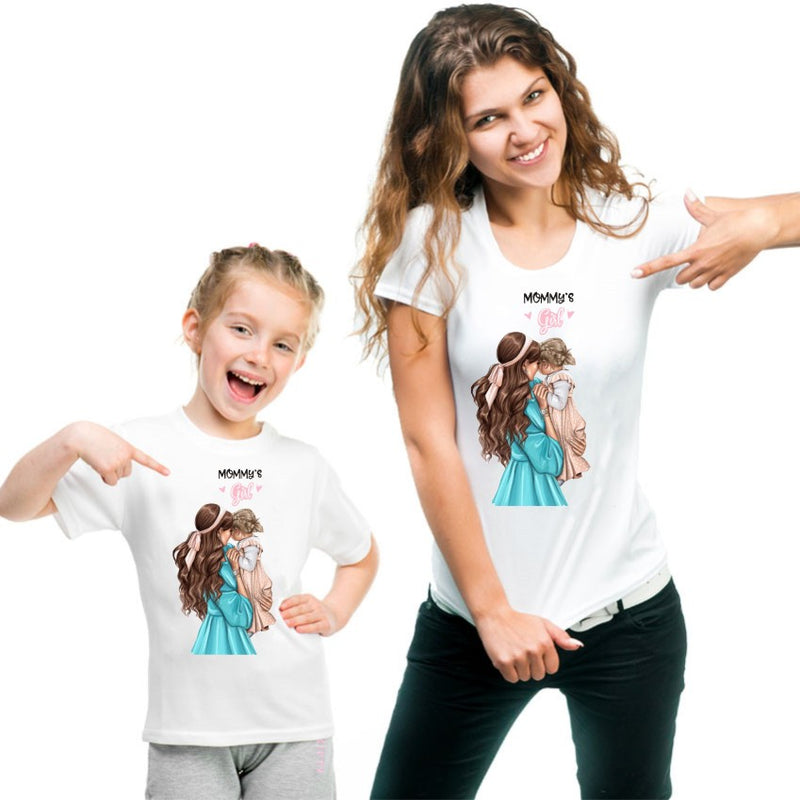 Mom And Daughter Tshirt