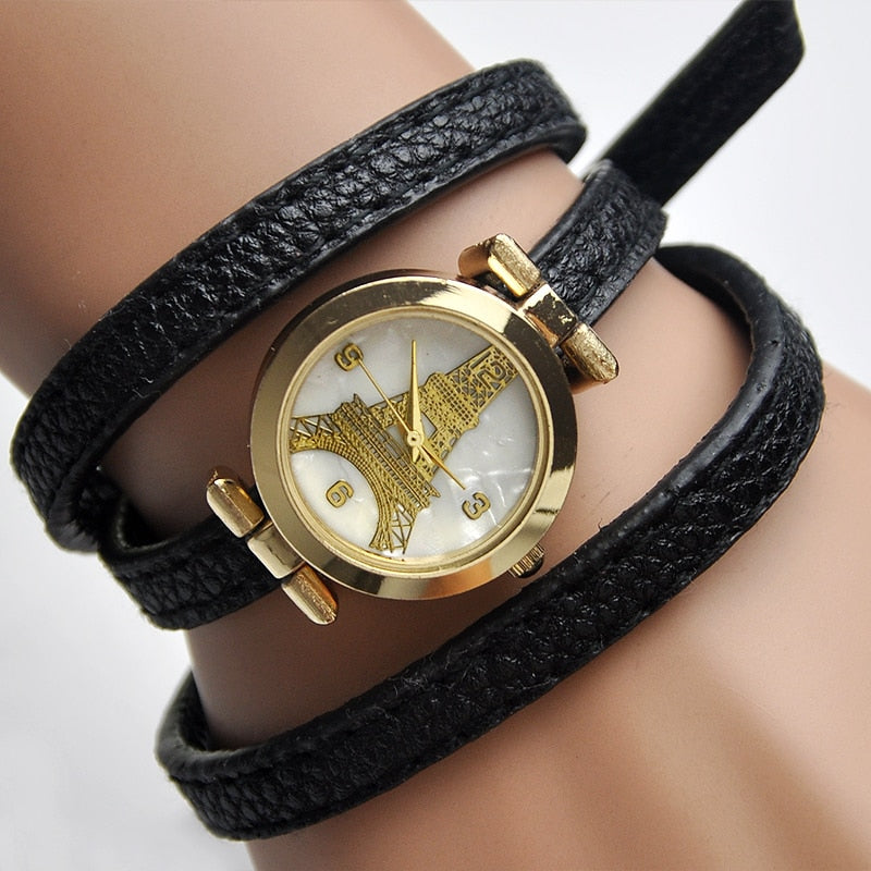 Strap Eiffel Bracelet Watch