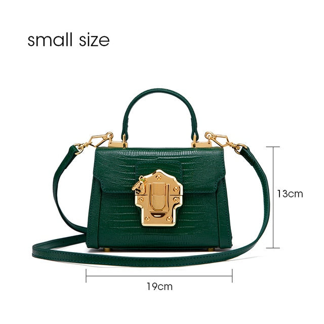 Serpentine Lock Handbag