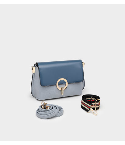 Classico Satchel Two Tone bag / Blue + Ash
