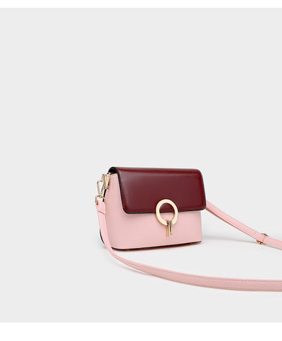 Classico Satchel Two Tone Bag / Maroon + Pink