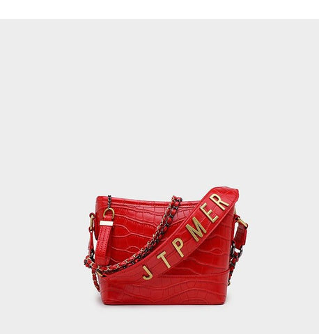 Classico Crocodile Pattern Hobo Bag / Red
