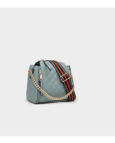 Classico Quilted Chain Cross-Body Bag / Pista Green