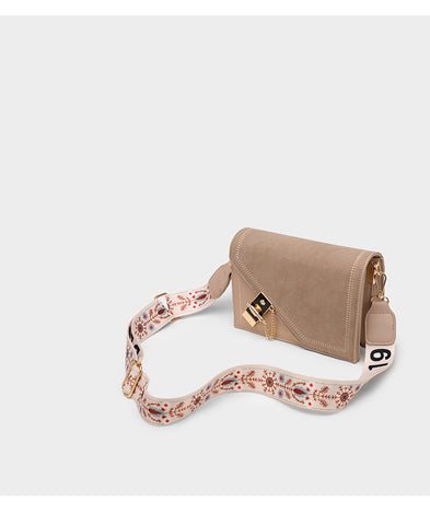 Classico Satchel Stitch Bag / Beige