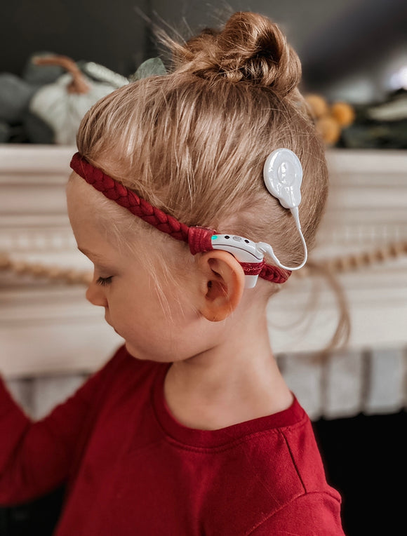 Toddler Braided EarBands for Cochlear Implants and Hearing aids