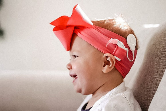 Unilateral Big Ribbon Bow for Cochlear Implants