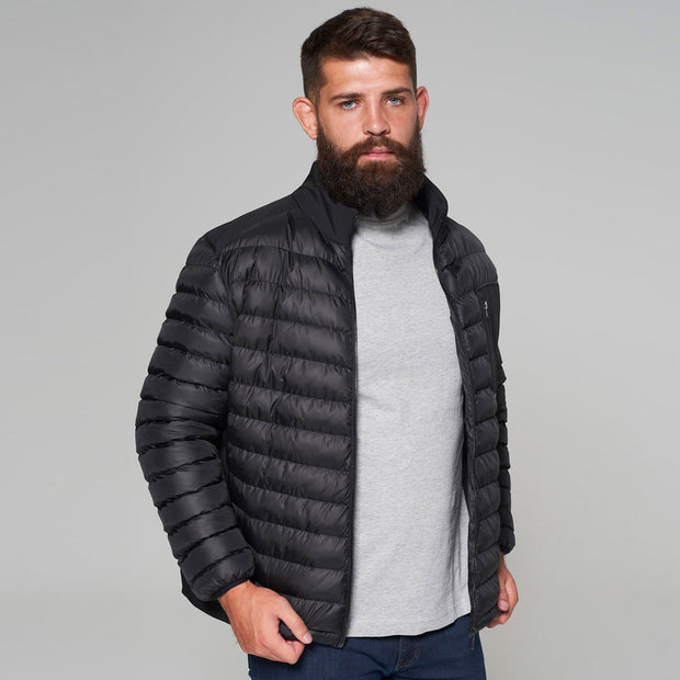 Campione Black Avalanche Mid-weight Quilted Jacket - back view