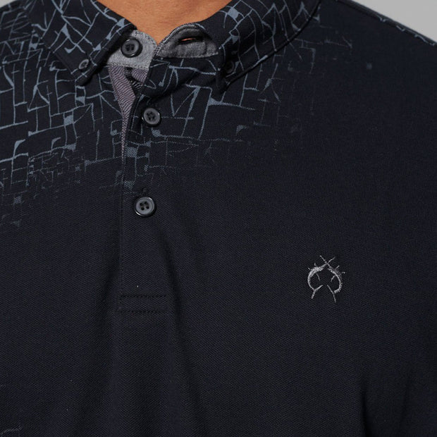 Campione - Blackout polo shirt - front view
