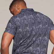Fortmens model wearing Campione Floral Print Polo Shirt- back view