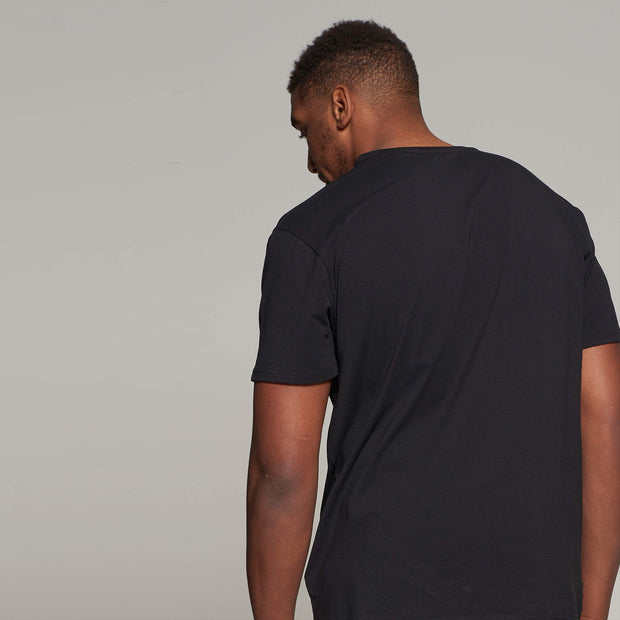 North 56°4 - V neck t-shirt - Black - Back
