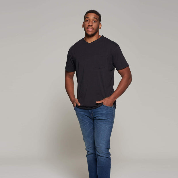 North 56°4 - V neck t-shirt - Black