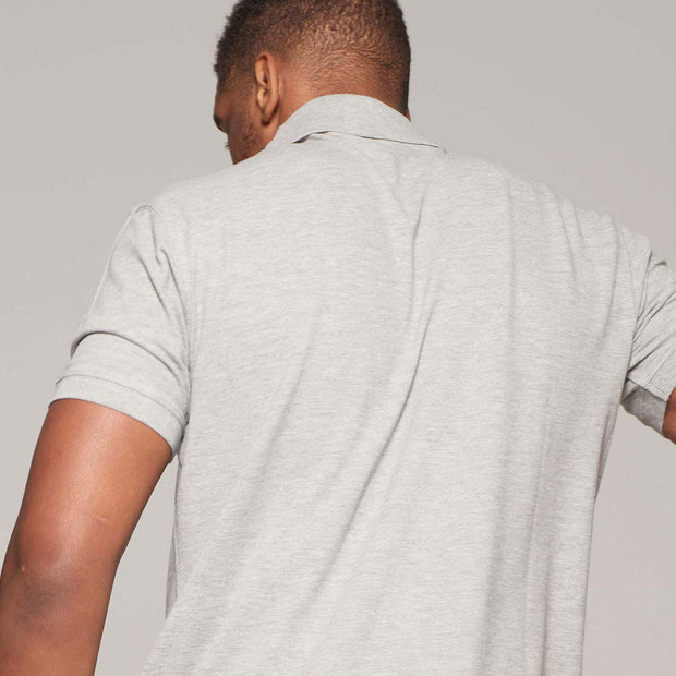 Fortmens model wearing a North 56°4 - Polo Shirt with Pocket in Grey - back view