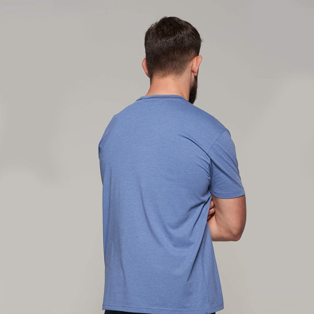 Fortmens model wearing North56 - North Blue t-shirt - back view