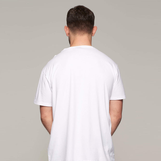 Fortmens - North 56°4 - T-Shirt with Pocket - White - back view