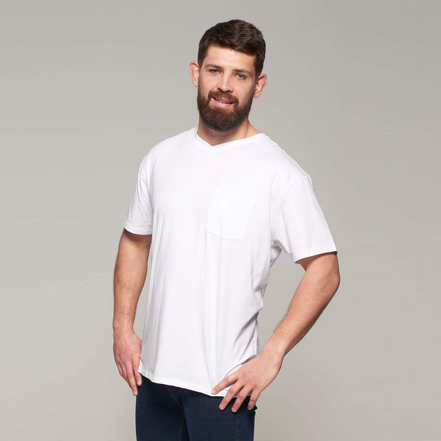 Fortmens - North 56°4 - T-Shirt with Pocket - White - front view