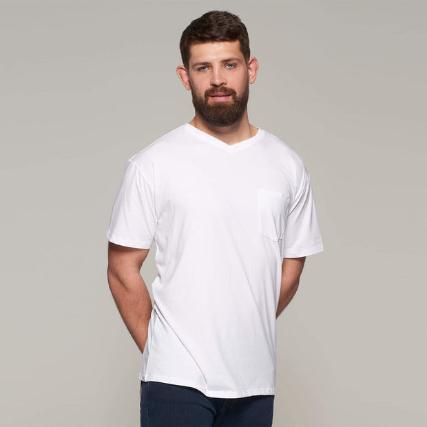Fortmens - North 56°4 - T-Shirt with Pocket - White - front view 2