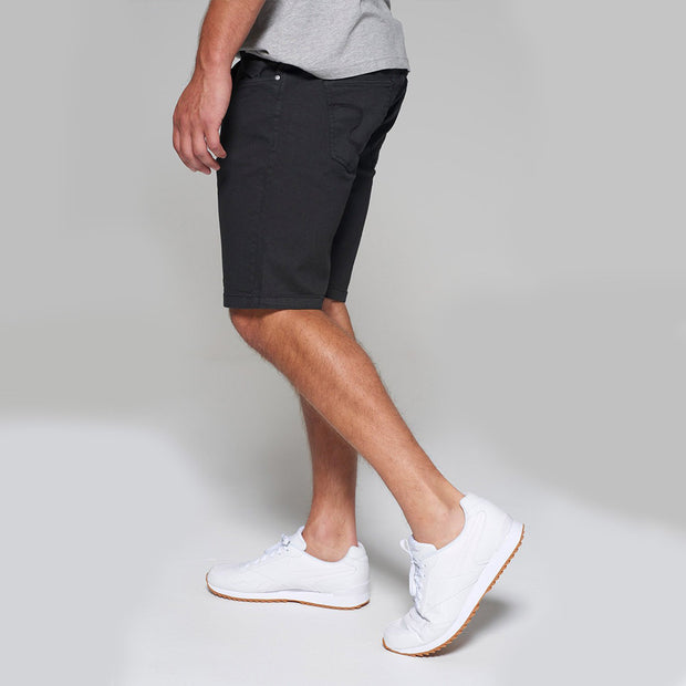 Replika 5 pocket Shorts in Black - side view