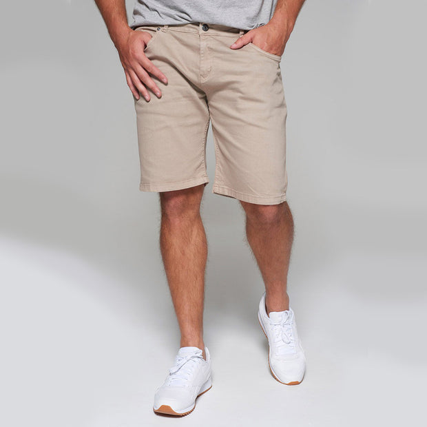 Replika 5 pocket Shorts in Sand - front view
