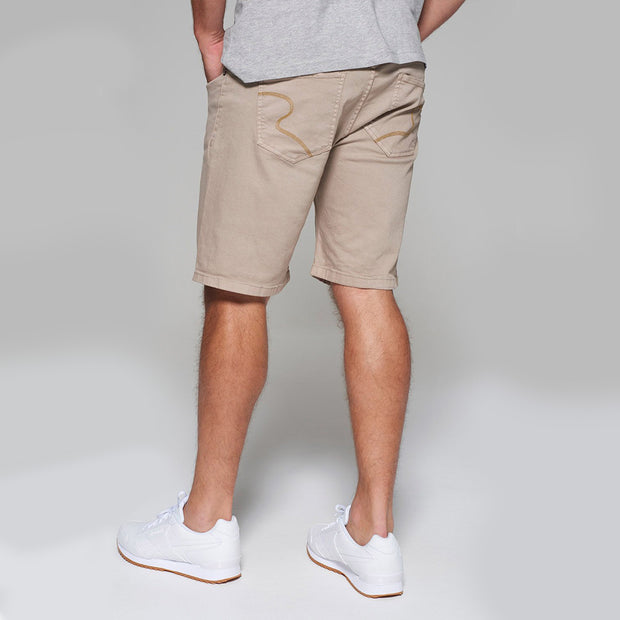 Replika 5 pocket Shorts in Sand - back view