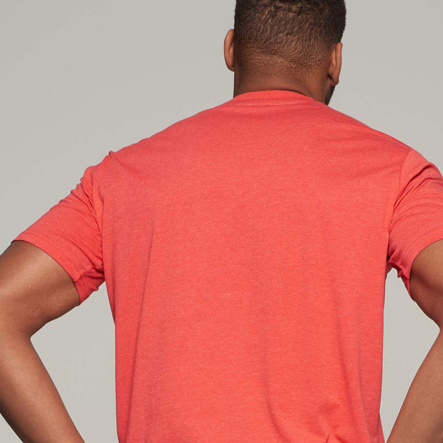 Fortmens model wearing a Casa Moda Sunset Coast T-shirt in Red - back view