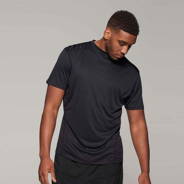 Fortmens model wearing a  North 56°4 Black Sport Running T-Shirt - front view alternative