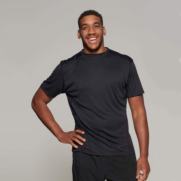 Fortmens model wearing a  North 56°4 Black Sport Running T-Shirt - active view