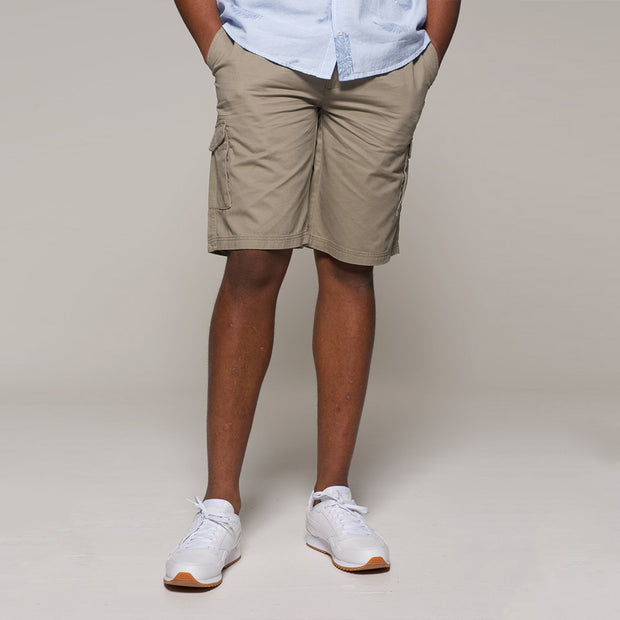 Fortmens North56 Cargo Shorts in Sand - side view
