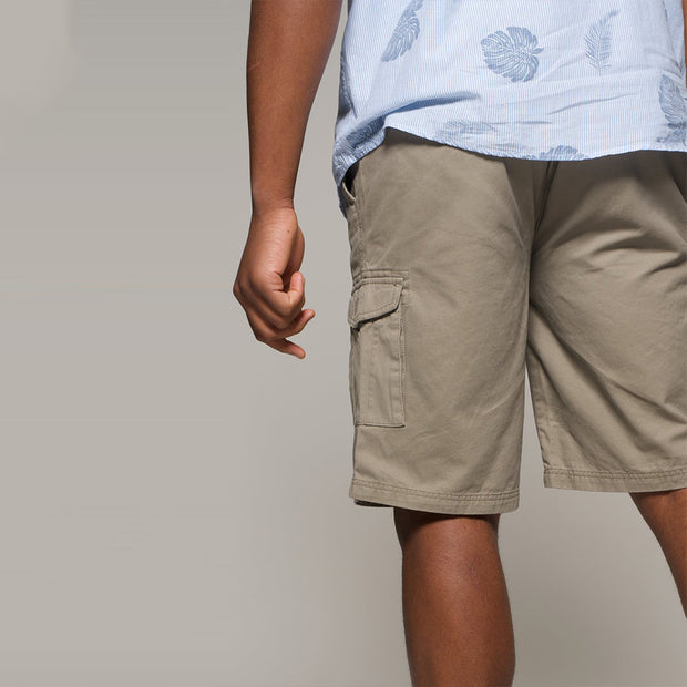 Fortmens North56 Cargo Shorts in Sand - pocket view