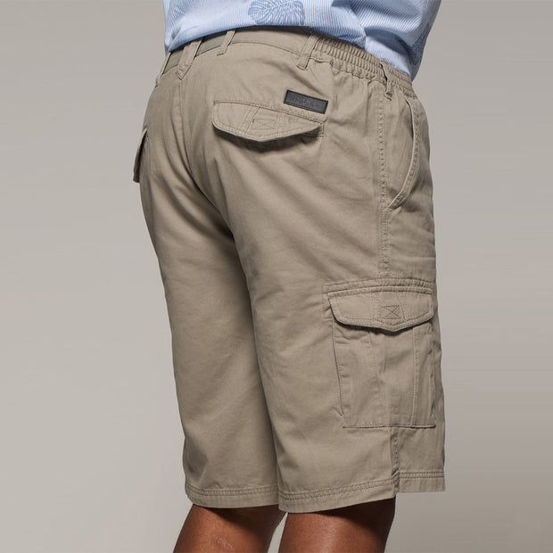 Fortmens North56 Cargo Shorts in Sand - front full view pocket