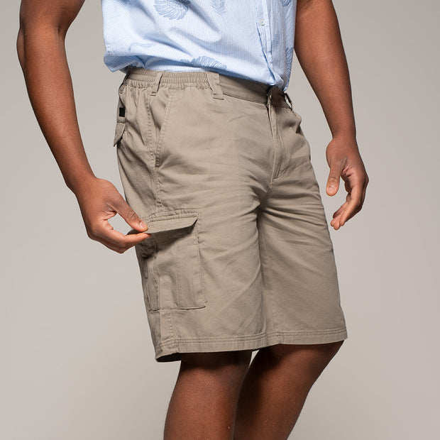 Fortmens North56 Cargo Shorts in Sand - front view