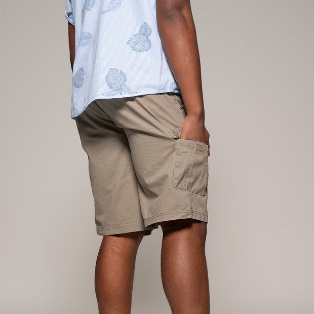 Fortmens North56 Cargo Shorts in Sand - back view