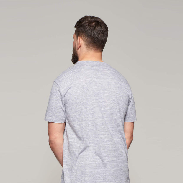 Fortmens model - North56°4 Crew neck t-shirt - Grey Melange - Back view