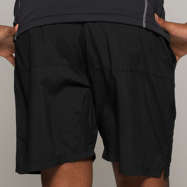 Fortmens North 56°4 Sport Running Shorts in Black - movement view