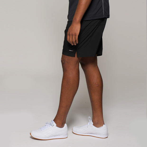 Fortmens North 56°4 Sport Running Shorts in Black - front view
