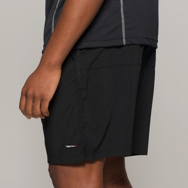 Fortmens North 56°4 Sport Running Shorts in Black - side view