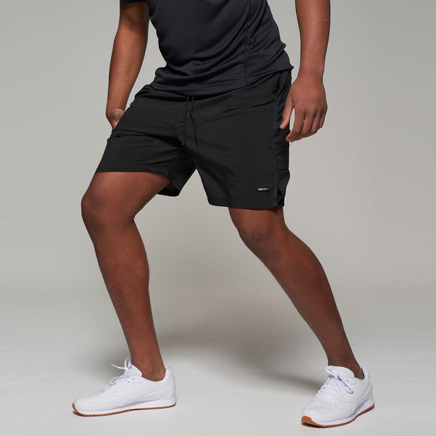 Fortmens North 56°4 Sport Running Shorts in Black - active pose