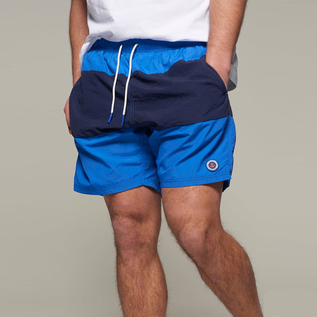 Fortmens model wearing a North56 Swim Shorts in Mid Blue front view