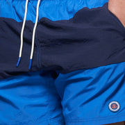 Fortmens model wearing a North56 Swim Shorts in Mid Blue front view close up