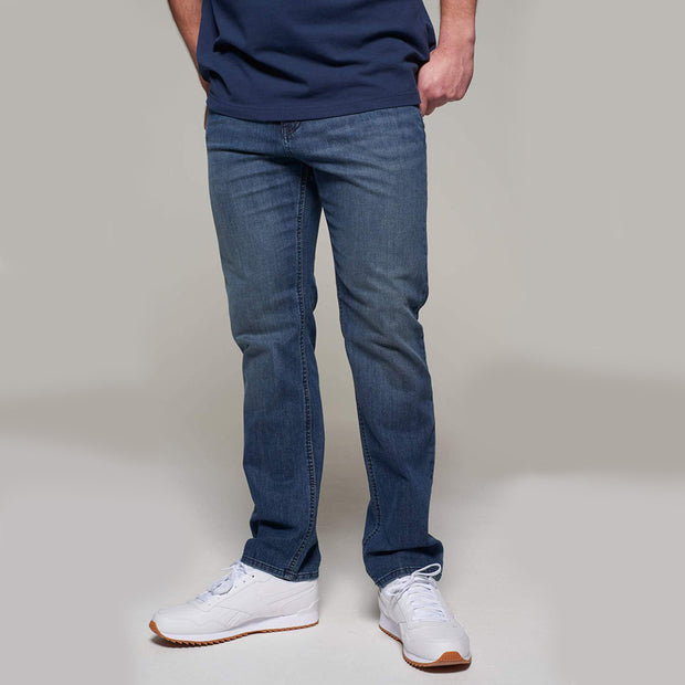 Fortmens model wearing Redpoint Langley Stone Wash Jeans - Front view