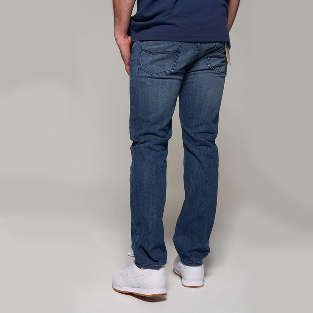 Fortmens model wearing Redpoint Langley Stone Wash Jeans - back view
