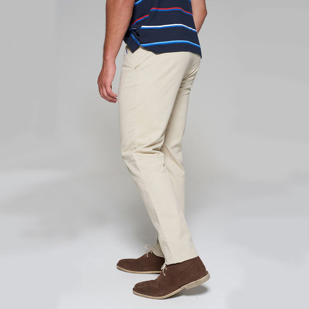 Fortmens modeling wearing Redpoint Odessa Chinos in Sand side/back view