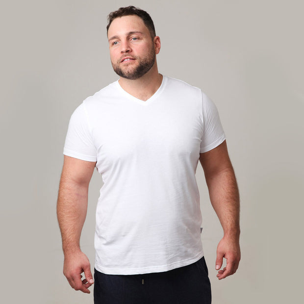 2 Pack - Classic V-Neck in White