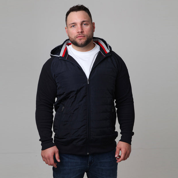 Winter Beach Jacket in Navy Blue - front view