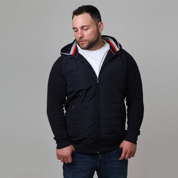 Winter Beach Jacket in Navy Blue - side view