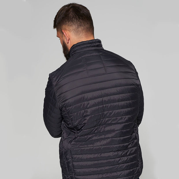 Madboy Classic lightweight quilted jacket in Black - back view