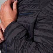 Madboy Classic lightweight quilted jacket in Black - front view close up